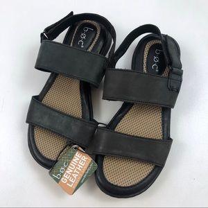 [b.o.c] Leather Strap Sandals Black Comfort Shoe